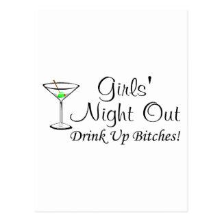 Girls Night Out Martini Postcard