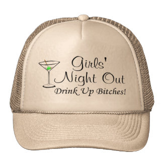 Girls Night Out Martini Trucker Hat