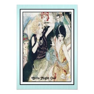 Girls Night Out Mayhem Vintage Art Deco Custom 5x7 Paper Invitation Card