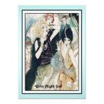 Girls Night Out Mayhem Vintage Art Deco 5x7 Paper Invitation Card