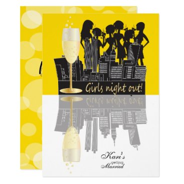Girls Night Out Party Celebration | Yellow Invitation