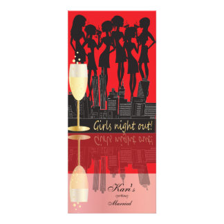 Girls Night Out Party Personalized Announcement