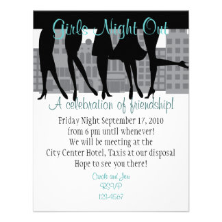 Girls Night Out Personalized Announcement
