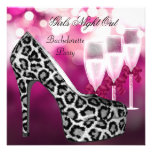 Girls Night Out Pink Shoes Hi Heels Champagne Personalized Invitations