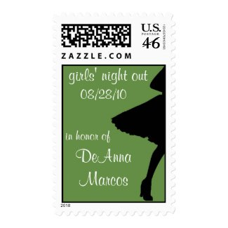 Green Girls' Night Out Stamp