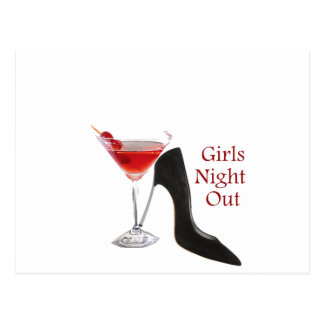 Girls Night Out Postcard