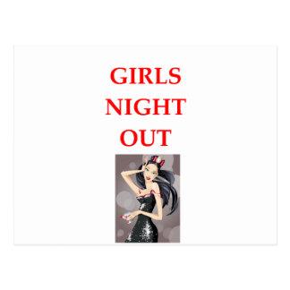 girls night out postcard