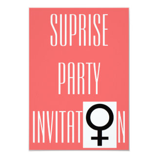 "Girls Night Out Surprise Party Invitation 3.5"" X 5"" Invitation Card"