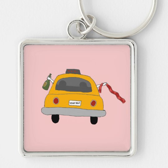 Girls' Night Out Taxi Keychain