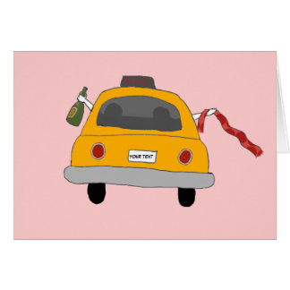 Girls' Night Out Taxi Note Card