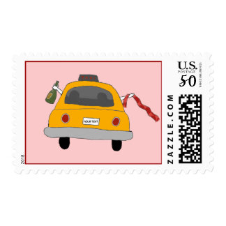 Girls' Night Out Taxi Postage Stamp