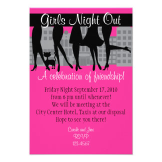Girls Night Out WIth Kitty Style A Personalized Invitation
