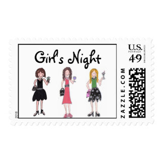 Girl's Night Postage Stamps