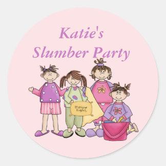 Girl's Night Slumber Party Stickers