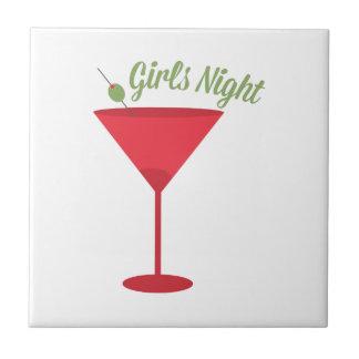 Girls Night Ceramic Tiles