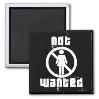 Girls not Wanted Black Magnet