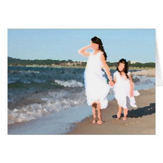 Girls on Beach Card