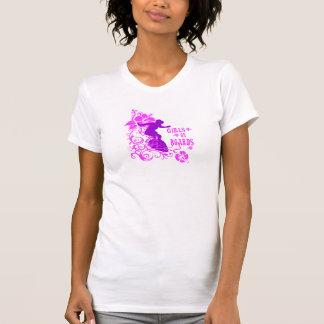 Girls on Boards, Surf purple Tee Shirt