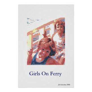 Girls On Ferry Poster
