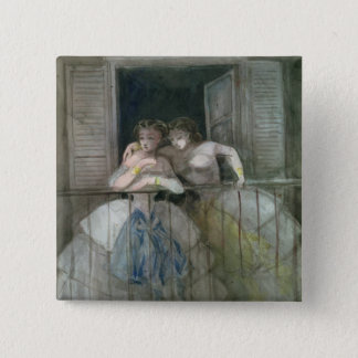 Girls on the Balcony, 1855-60 Button