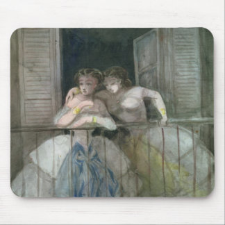 Girls on the Balcony, 1855-60 Mouse Pad