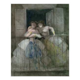 Girls on the Balcony, 1855-60 Poster