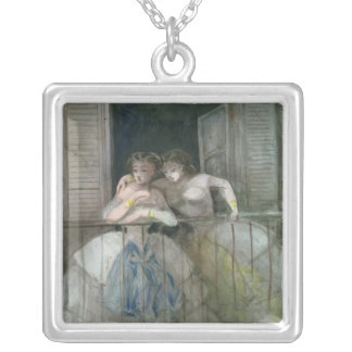 Girls on the Balcony, 1855-60 Silver Plated Necklace