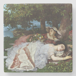 Girls on the Banks of the Seine, 1856-57 Stone Beverage Coaster