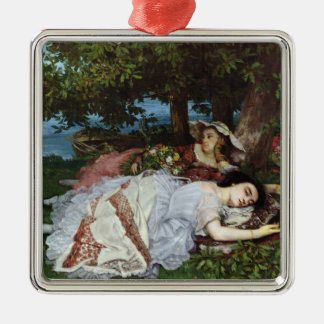 Girls on the Banks of the Seine, 1856-57 Metal Ornament