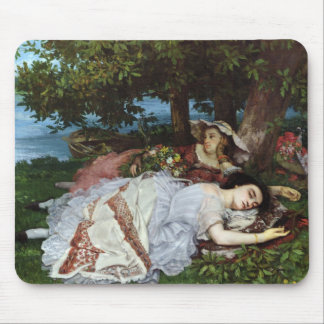 Girls on the Banks of the Seine, 1856-57 Mousepads