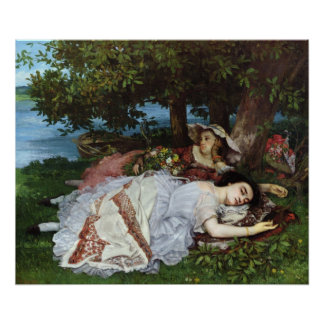Girls on the Banks of the Seine, 1856-57 Poster