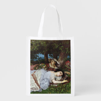 Girls on the Banks of the Seine, 1856-57 Reusable Grocery Bags