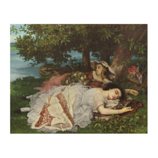 Girls on the Banks of the Seine, 1856-57 Wood Print