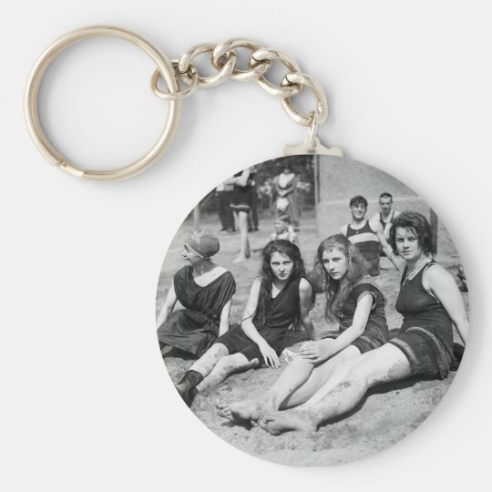 Girls on the Beach, early 1900s Keychain