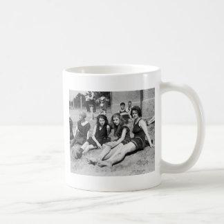 Girls on the Beach, early 1900s Coffee Mugs
