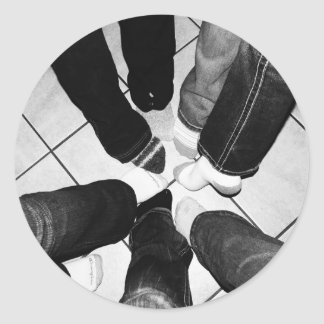 Girls Only - Circle of Feet Classic Round Sticker