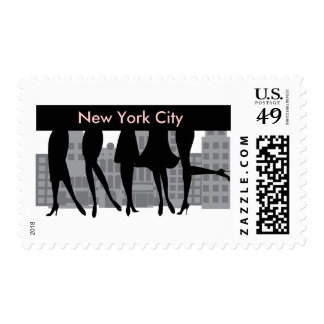 Girls Only Postage Stamp