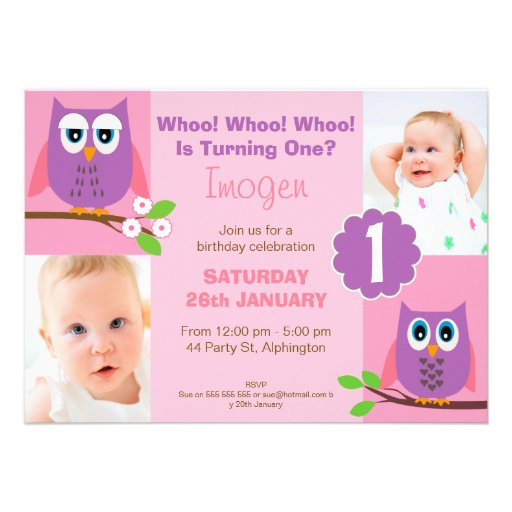Owl First Birthday Invitations for your inspiration to make invitation template look beautiful