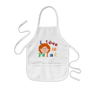 Girls Painting Apron (red hair)