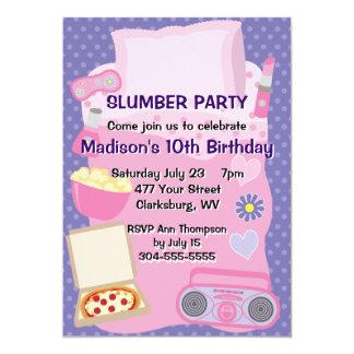 Girl's Pajama Party 5x7 Paper Invitation Card