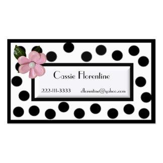 Girl's Paris high fashion calling Card Business Card Template