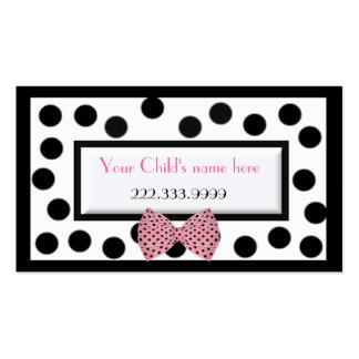 Girl's Paris high fashion calling card Double-Sided Standard Business Cards (Pack Of 100)