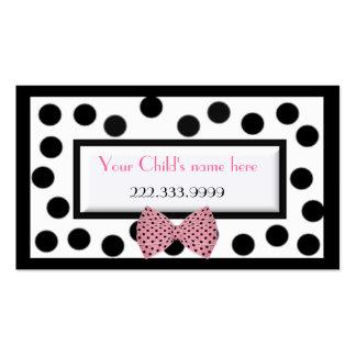 Girl's Paris high fashion calling card Business Card