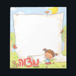 """Girls Personalized  Mitzvah Note Pad<br><div class=""""desc"""">Girls Personalized  Mitzvah Note Pad by Between Carpools</div>"""