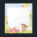 "Girls Personalized  Mitzvah Note Pad<br><div class=""desc"">Girls Personalized  Mitzvah Note Pad by Between Carpools</div>"