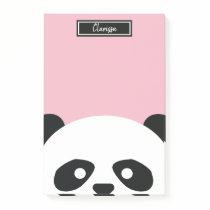 Girls Personalized Panda Bear Animal Kids Kawaii Post-it Notes