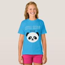 Girls Personalized Panda Kawaii Little Sister T-Shirt