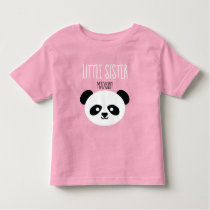 Girls Personalized Panda Kawaii Little Sister Toddler T-shirt