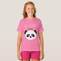 Girls Personalized Panda Kawaii Sister Sibling T-Shirt