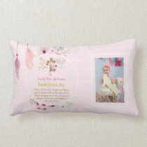 Girls PHOTO Baptism Christening Gift Proverb 31:25 Lumbar Pillow